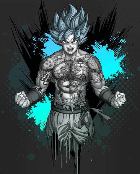 goku  dragonballz tattooed tattoo artwork fanart