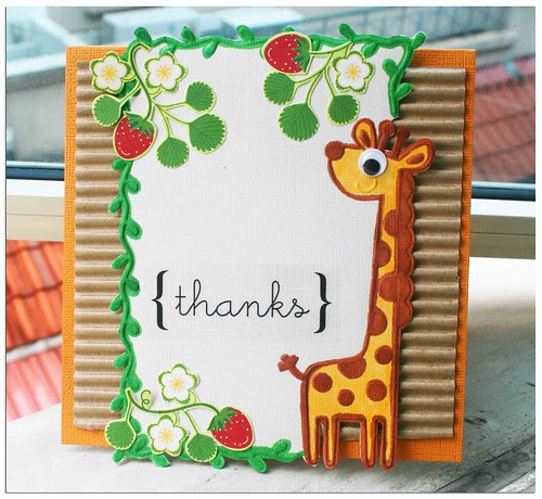Giraffe thanks card