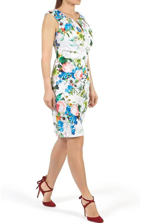 rosalind white floral summer wedding guest dress
