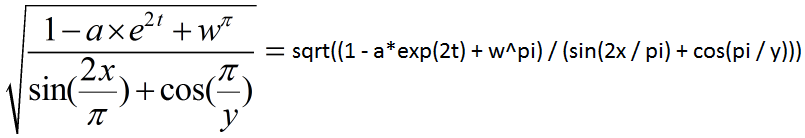 The C++ Mathematical Expression Library Example - Copyright Arash Partow
