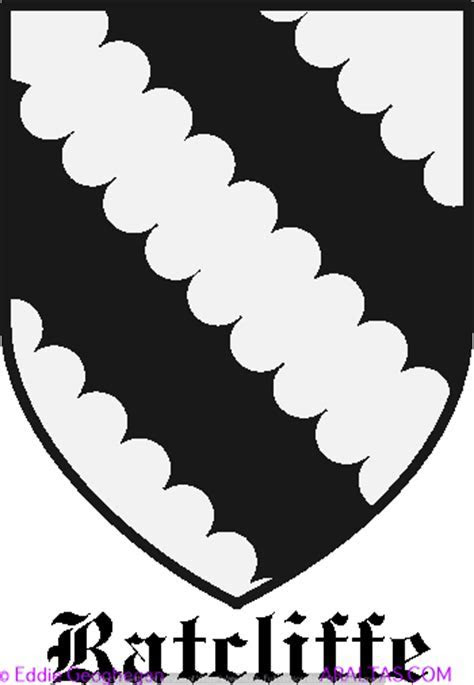 Ratcliffe [Derby and Lancs] coat of arms, Ratcliffe [Derby