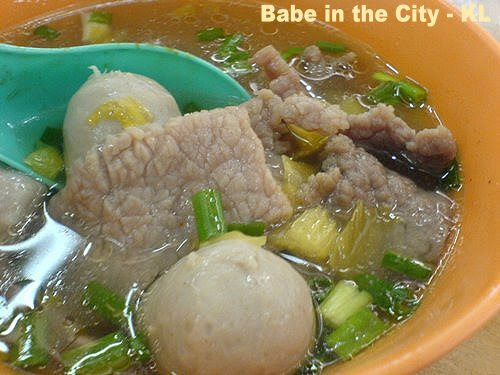 Chinatown Food Court Beef and Meatball soup