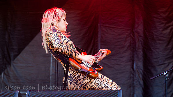 Lindsey Troy, guitar and vocals, Deap Vally