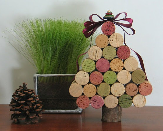 Diy Cork Christmas tree and ornaments  My desired home