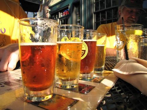 Tom's beer sampler, Foothills Brewery, Winston-Salem