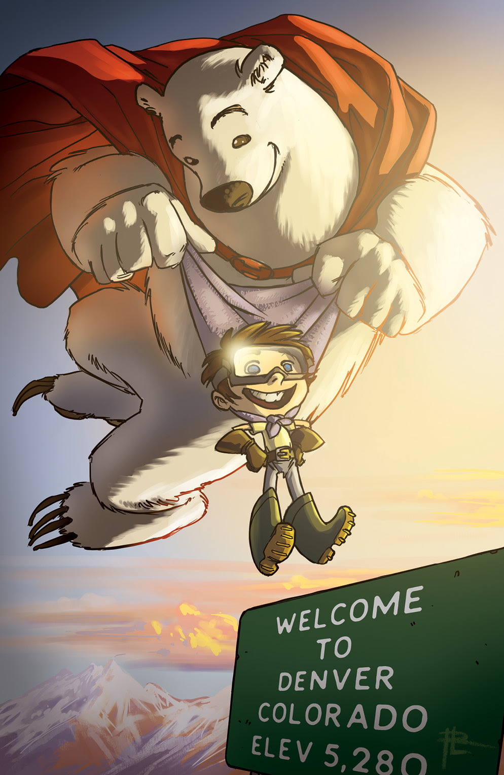 Herobear and the Kid: Saving Time #1 Denver Comic Con variant
