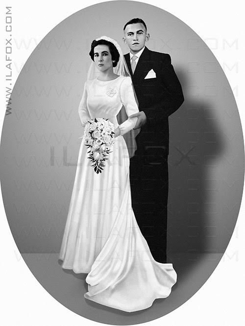 restauração fotografia antiga, restauração foto, reconstituição foto antiga, noivos sem foto casamento, casamento sem foto, restauração foto noivos, ila fox