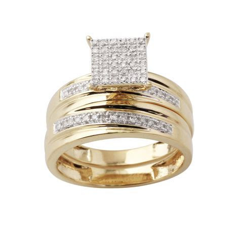 10K Yellow Gold 1/5 Cttw Certified Diamond Square Ladies 2