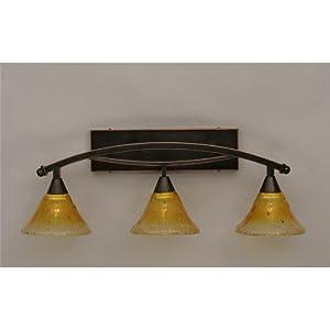 "Bow 3 Light Bath Vanity Light Shade Color: 7"" Gold ..."