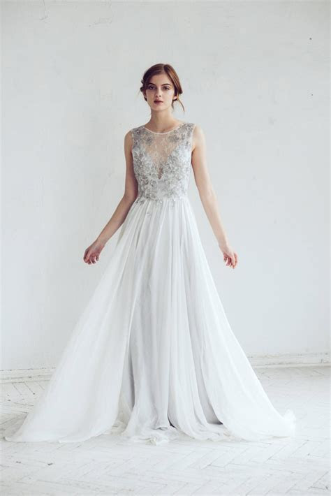 Silver Gray Wedding Dress   Chic Vintage Brides : Chic