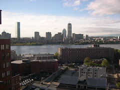 View across the river to Boston