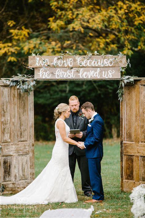 elegantly rustic fall barn wedding  ohio