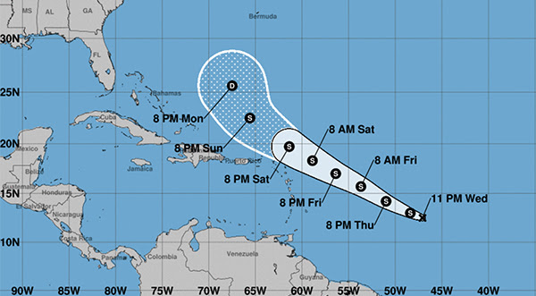 Tropical Depression in Atlantic Struggles to Become ...
