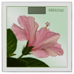 Nature Photography Pink Hibiscus Blossom Bathroom Scale