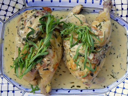Baked Cornish Hens With Tarragon