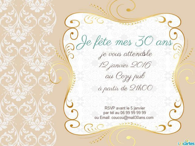 Invitation Anniversaire Surprise 30 Ans