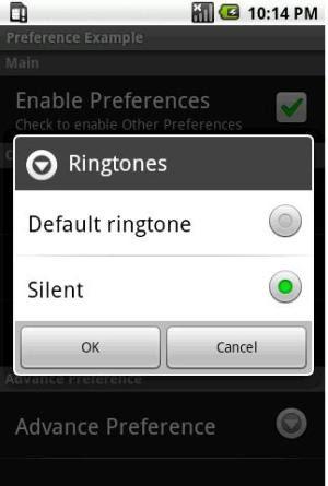 Ringtone Preference