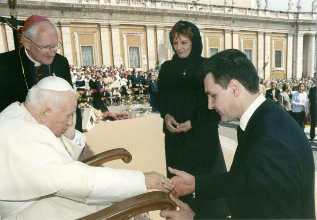 Papa Ioan Paul al II-lea, Regele Mihai, Principesa Margareta, Principele Radu