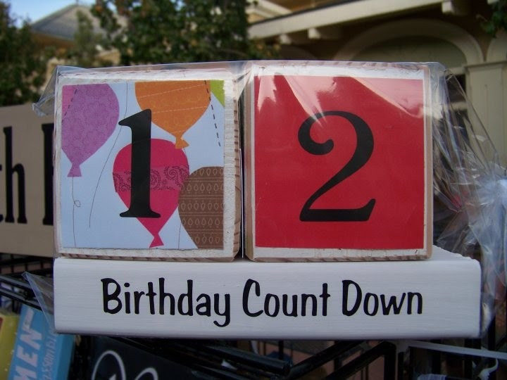 Birthday Countdown- balloons