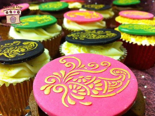 Mehndi (Henna) Cupcakes
