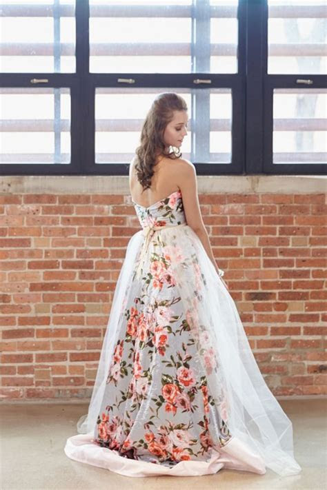 30 Floral Wedding Dresses You Can Shop Now   Deer Pearl