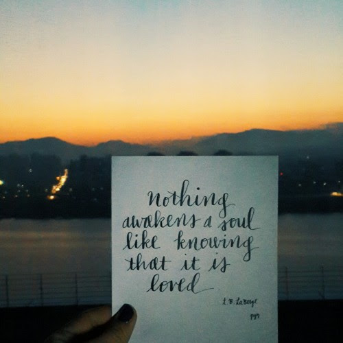 Love Quotes Sky Inspiration Sunrise Seoul Calligraphy Quote Of The