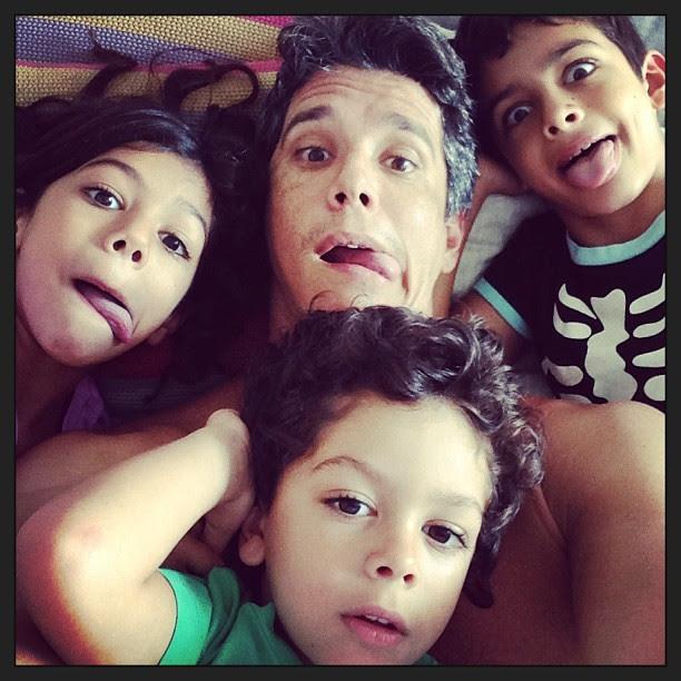 Márcio Garcia e filhos (Foto: Instagram/Reprodução)
