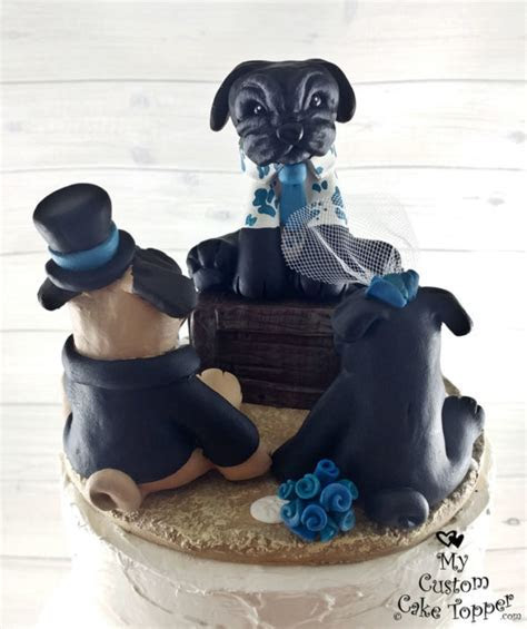 Dog Wedding Cake Toppers   My Custom Cake Topper