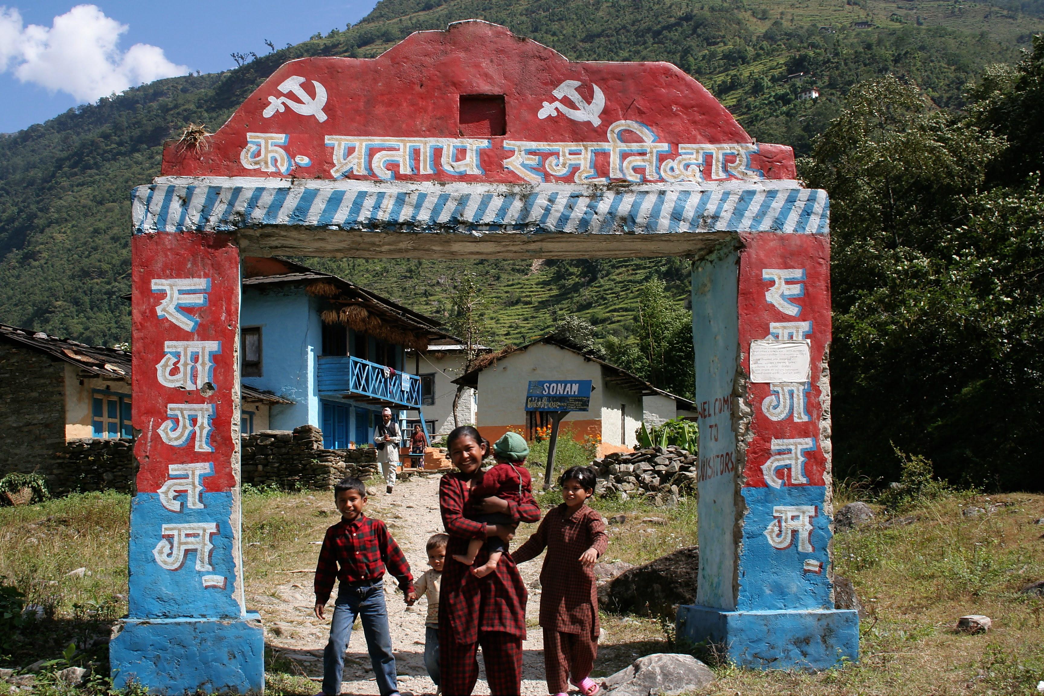 Maoist-controlled village (photo: Pavel Novak)