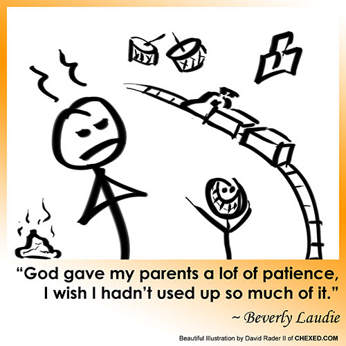 Parents And Patience Comic Funny Funnies