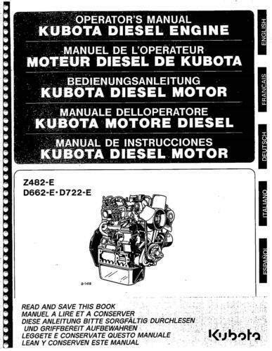 Kubota Engine Manuals | eBay