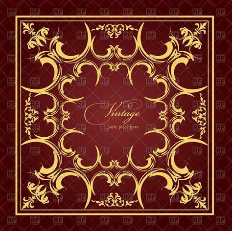 Elegant square frame with vintage ornament   Wedding album