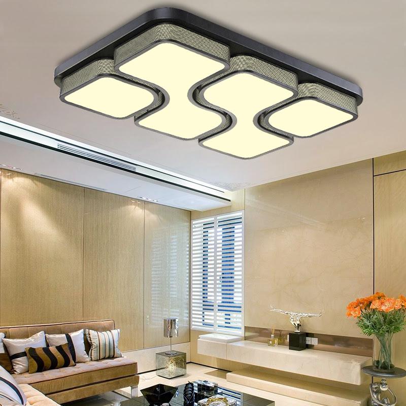 Modern LED Panel Ceiling Light 36W 48W Bathroom Kitchen Living Room Lighting  eBay
