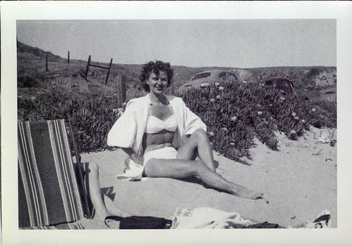 At the beach  - white bikini
