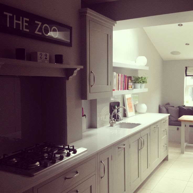 Painted Kitchen Units in Farrow and Ball Hardwick White