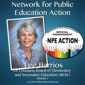 NPE Action Endorses Lee Barrios for BESE