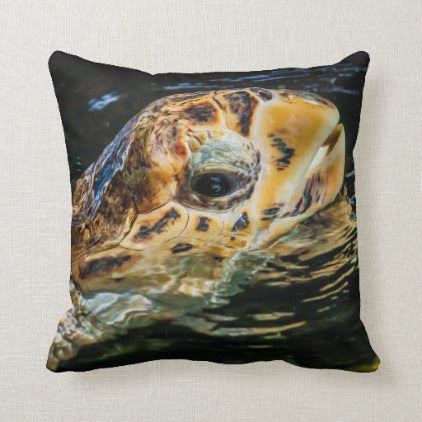 Sea Turtle 05 Digital Art - Pillow
