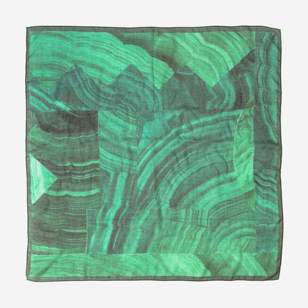 Malachite print cashmere scarf by Lauren Spencer King