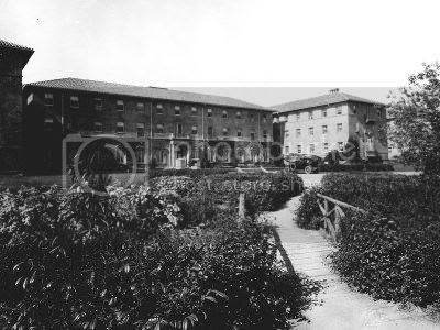 early view of Stanford University, Palo Alto, California
