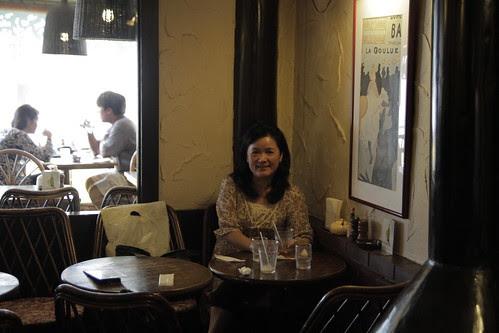 Mum in the Kamakura restaurant