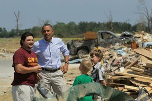 Obama tours state's storm ruin