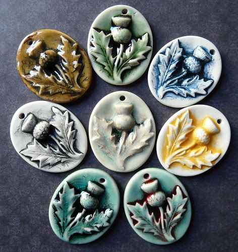 Thistle - Porcelain Jewelry Components