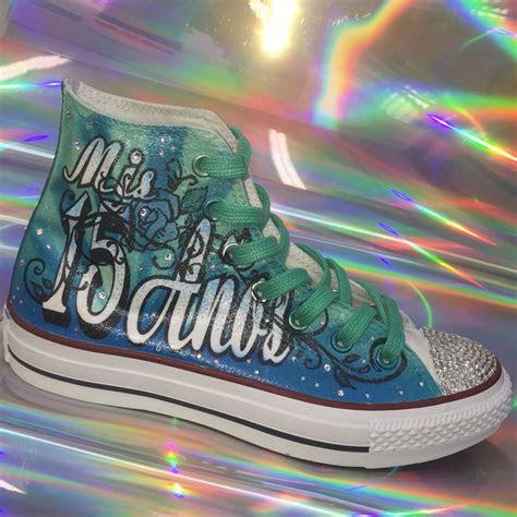 quinceanera shoesmis quince anos custom converse