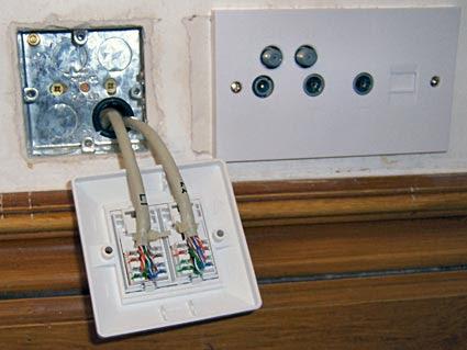 Χωνευτή πρίζα Ethernet