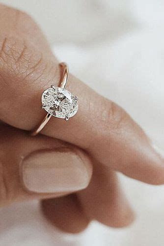Your Heart Will Melt When You See These 24 Oval Engagement