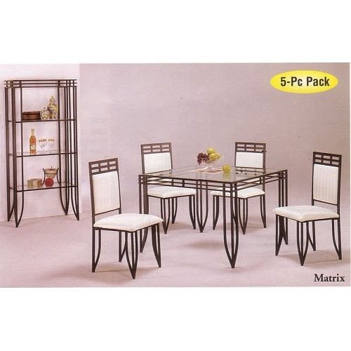Where Can I Find 5pc Matrix Style Black Wrought Iron Square Dining Table W 4 Chairs Set Christopher G Harrisonet