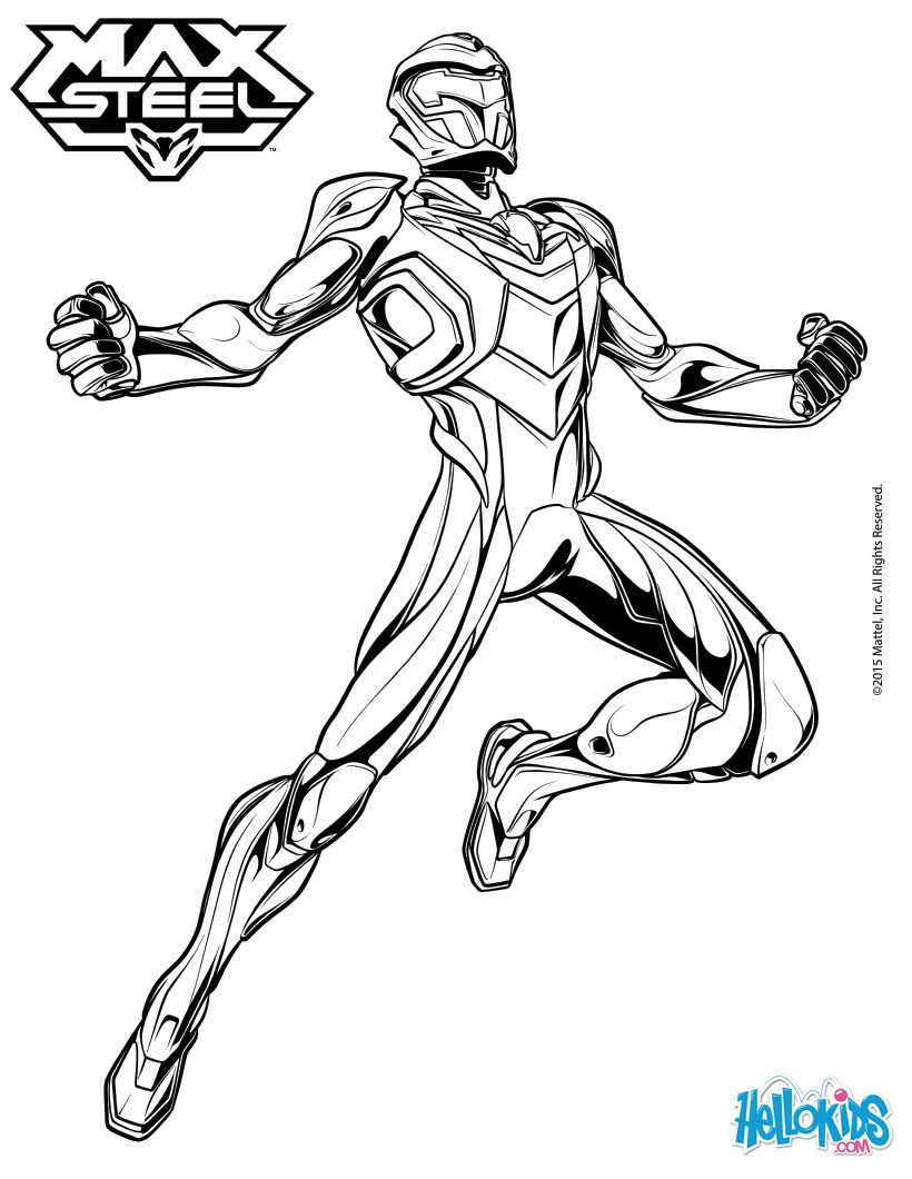 Max Steel Para Colorear Dibujos Para Colorear Imprime Dibujos