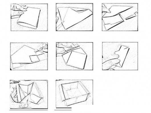 Instrucciones Para Hacer Una Caja De Papel En Origami Paso A Paso