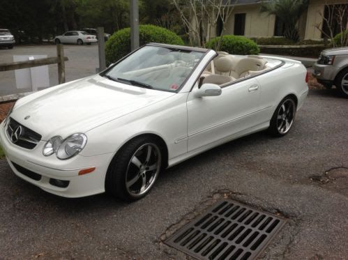 Buy used 2007 Mercedes clk 350 comvertable white in Myrtle ...