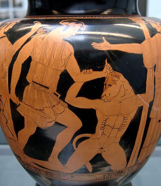 Theseus Minotauros Staatliche Antikensammlungen SL471